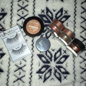 6 piece Eyeshadow & Eyelash bundle